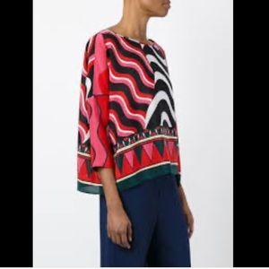 Missoni Silk Wavy Print Blouse